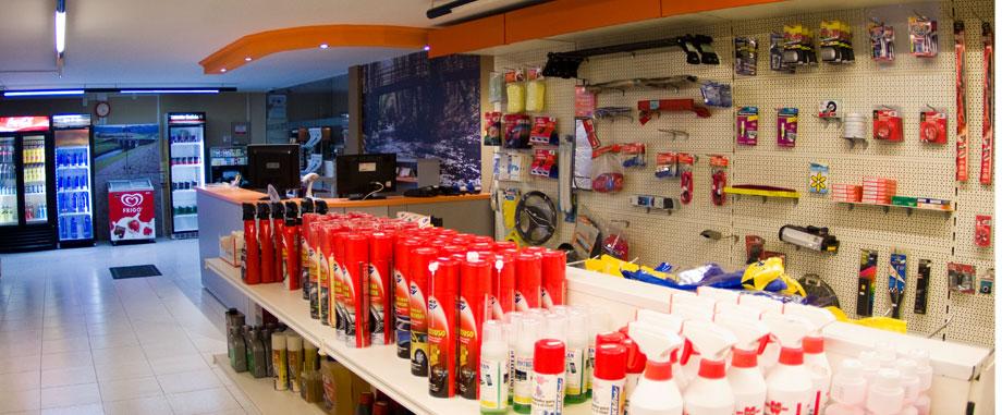 Productos automóvil estación de servicio